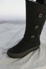 Ladies Black Mid Calf Zip Fastening Boots with Toggle Detail & Fur Lining Size 4