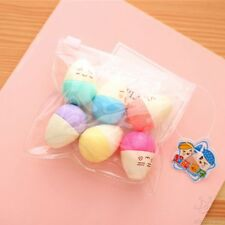 HOT 6pcs/Lot Mini Smile Eggs Highlighter Pens Marker Stationery Material Escolar