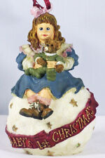 Boyds Dollstone Ornament, Amy & Sam – Baby'S First Christmas, #25857, 99 Le, New