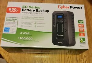 CyberPower EC series Battery Backup with surge protection EC650LCD