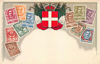 Italy Stamps on Early Postcard, Unused, Published by Ottmar Zieher