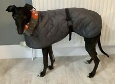 22'' Whippet Coat Waterproof Grey New Quilted Fleece Lined