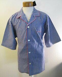 NWT Polo Ralph Lauren Mens Striped S/S Woven Pajama Top L Purple/White MSRP$40