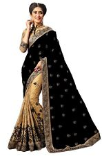 Silk Designer Embroidery Saree for Indian Ethnic Wedding Party wear Sari (K724)