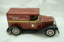 VINTAGE JAPAN TIN FRICTION CAR EXPRESS DELIVERY TRUCK SIGN OF B QUALITY BANDAI