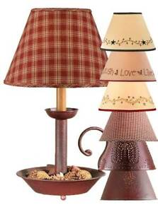 "Red Chamberstick Lamp with Choice of 10"" Lampshade"