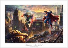 Thomas Kinkade -DC SUPERMAN MAN OF STEEL- 12x18 S/N Ltd Edition Paper