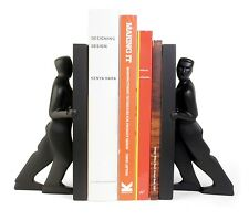Kikkerland Set Of 2 Pushing Men Bookends Home Decor Pair Solid Resin Book Ends