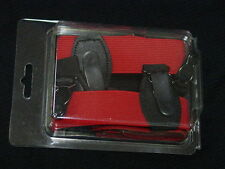 red mens double grip pair of sock garters brand new boxed made in usa