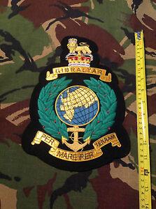 "12"" Royal Marines Commando badge Green & Gold Bullion"