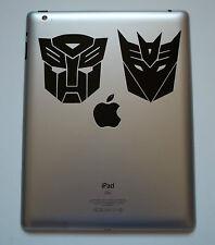 1 x TRANSFORMERS Adesivo Decalcomania in Vinile per Ipad Mac Macbook Autobot Decepticon scheda