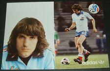 FOOTBALL CPA FRANCE 1982 ESPAÑA 82 ADIDAS FFF CHRISTOPHE DEDICACE AS MONACO