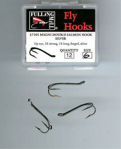 Fulling Mill Magni Double Salmon Hooks pack of 12 GOLD/SILVER/NICKEL