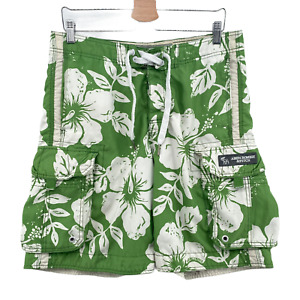 Vtg Abercrombie & Fitch Originals Mens Floral Cargo Swim Trunks Board Shorts 34