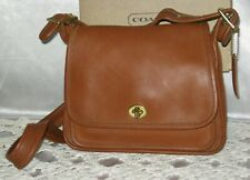 Coach Rambler's Legacy British Tan Leather Shoulder Bag 9061