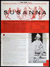 "original italian movie program for ""I AM SUZANNE"" Lilian Harvey Podrecca puppets"