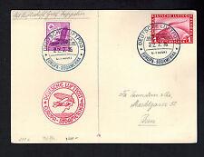 1935 Germany Graf Zeppelin Postcard Cover to Bern Switzerland Lz 127 8th Saf Dzr