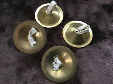 Brass Finger Cymbals 2 Pair Belly Dancing Castanets India