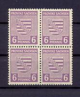 SBZ 76 Xb 6 Pfg. 4erBl seltene Farbe rötlichgrauviolett postfr gepr. Ströh(xs47)