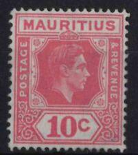 r155) Mauritius. 1938/49. MNG. SG 256c 10c Pale reddish-rose. c£40+