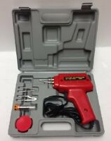 100w Soldering Gun Kit with Case and Cutter Flux Solder Attachments - 5 Pieces