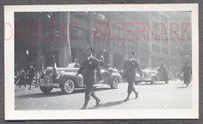 Vintage Car Photo Army Men & 1940 Chrysler Convertible on Parade 706493