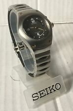 Seiko Arctura Kinetic 3m22 Watch All Stainless Steel Mid Size New Old Stock