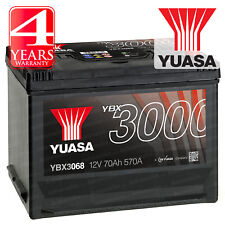 Yuasa YBX3068 Car Battery Calcium Black Case SMF & SOCI 12V 570CCA 70Ah T1