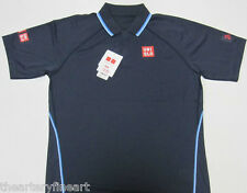 UNIQLO x Novak Djokovic 2015 Australian Open DRY-EX Polo Shirt S Navy Blue *NEW*