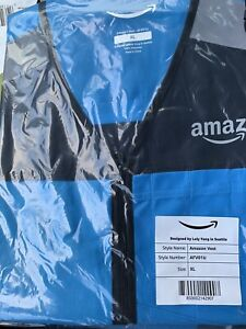 Blue Amazon DSP Delivery Driver Flex Vest Reflective xl Brand New