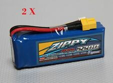 2 X 2200mAh 3s 11.1v ZIPPY 25-35C Lipo Battery 450 -  DEANS Plug OZ SELLER