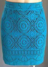 Stunning  SHONA JOY Bright Blue Lace Mini Skirt Size 6 (XS)