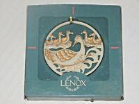 Lenox Twelve Days of Christmas Snowflake Ornament - Six Geese a Laying - NICE!