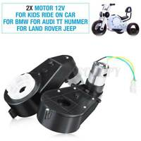 Pair 12V Electric Motor Gear Box For Kids Ride On Car Bike Toy Spare Parts US