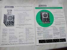 "2 Vintage Leaflets From Heathkit Daystrom 3"" Service & 5"" Flat-Face  Oscillopes"