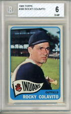 1965 Topps # 380 Rocky Colavito Cleveland Indians Beckett graded card 6