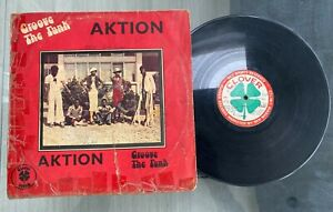 """Aktion """"Groove The Funk"""" 1975 Afro Funk Psych Rock LP Clover Sound Nigeria"""