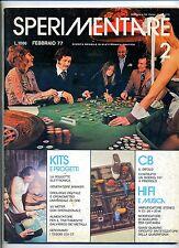 SPERIMENTARE # N.2 Febbraio 1977 # Rivista Mensile Elettronica Elettrotecnica