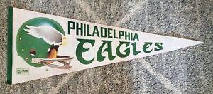 Vintage 1980's NFL Philadelphia Eagles 3D Logo 2 Bar Helmet Full Size Pennant
