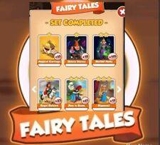 6 x Cards From Fairy Tales Set Coin  Master  Cards Fast Deliver !!!