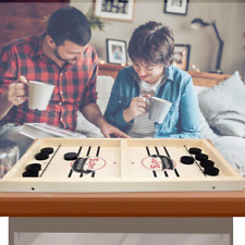 Fast Hockey Sling Puck Wooden Board Party Indoor Table Game Montessori Kid Toy