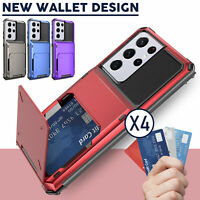 For Samsung Galaxy S21/S21 Ultra/Plus 5G Case Cover Pocket Wallet Card Holder US