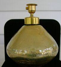 Vintage Original Holm Spray Iridescent Gold Crackle Glass Perfume Bottle U.S.A.