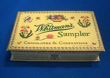 WHITMAN'S SAMPLER CHOCOLATES & CONFECTIONS CARDBOARD BOX