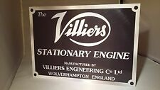 Villiers stationary engine display board. Rally sign. Workshop, Garage