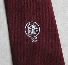 CLUB ASSOCIAZIONE Cravatta BORDEAUX 1970 S 1980 S SCM 1856 da Leonard Hudson CHISWICK