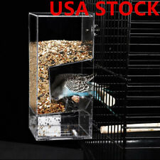 Acrylic No-Mess Automatic Birds Feeder Parrot Parrot Canary Cockatiel Us Stock