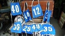 Antiquité Sportive Lot 32 Brassards enfant station de ski Tissus Numérotés 1960