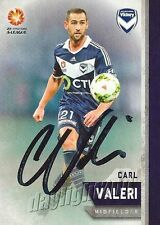 ✺Signed✺ 2015 2016 MELBOURNE VICTORY A-League Card CARL VALERI