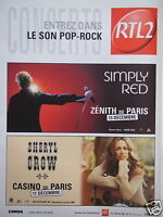 PUBLICITÉ 2003 RTL2 CONCERTS ENTREZ DANS LE SON POP-ROCK - ADVERTISING